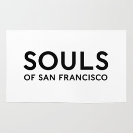 Souls of San Francisco - Black Text/White Background Rug