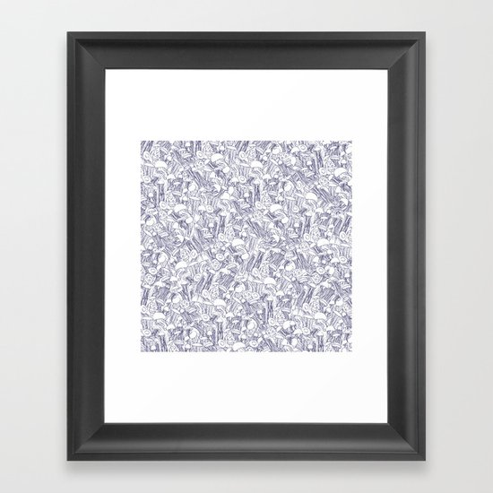 Jellyfishes Framed Art Print