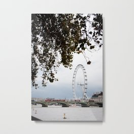 Stroll Along the Thames Metal Print