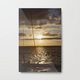 Sunset in NC Metal Print