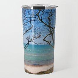 Soft Blue Baltic Sea Landscape Travel Mug