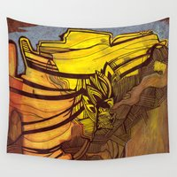 mexico Wall Tapestries featuring New Mexico by Stacey Sherman