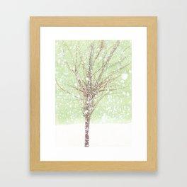 Tree and snow Framed Art Print