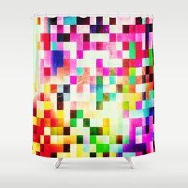 GROWN UP PIXELS Shower Curtain