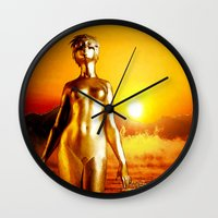 alchemy Wall Clocks featuring Alchemy by Danielle Tanimura