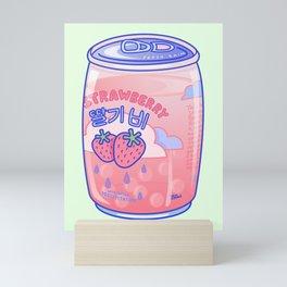 Strawberry Rain Mini Art Print
