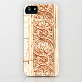 carved stonework iPhone Case