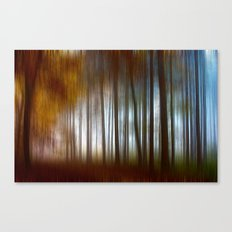Abstract Autumn Forest Canvas Print