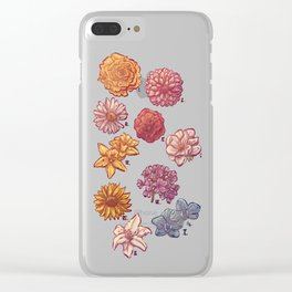 10 Flowers Clear iPhone Case