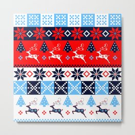 Scandinavian holidays pattern design Metal Print