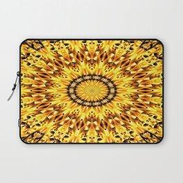Ice Crystal Mandala (gold) Laptop Sleeve