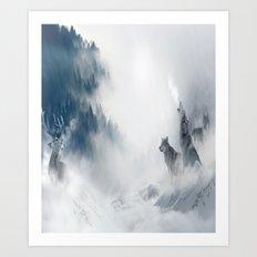 Wolf Painting Art Print