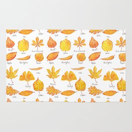 yellow leaves collection Rug