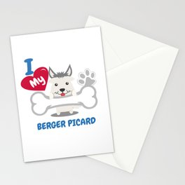 BERGER PICARD Cute Dog Gift Idea Funny Dogs Stationery Cards