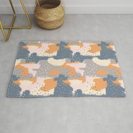 Cloudy With a Chance of Rain, Color Block Clouds Rug