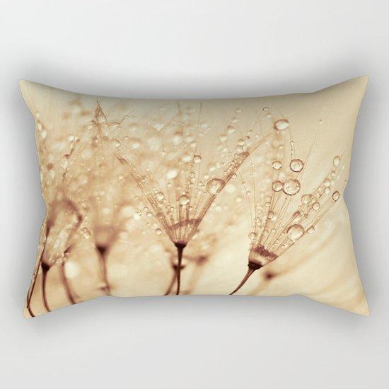 droplets of liquid gold Rectangular Pillow