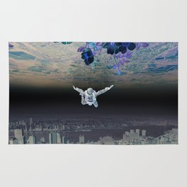 A Skydiver Between Two Parallel Universes Rug