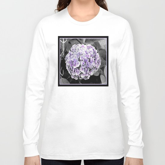 Flower   Flowers   BNW Purple Hydrangea Long Sleeve T-shirt