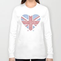 union jack Long Sleeve T-shirts featuring Union Jack  by Joanne Hawker