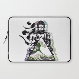 Buddha Wave Green Typhoon Laptop Sleeve