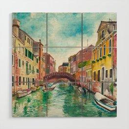 Venezia Watercolor Wood Wall Art