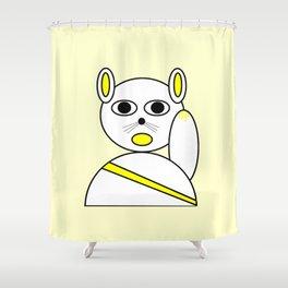 Maneki neko golden version. Shower Curtain