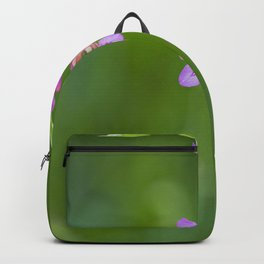 Beauty in nature, wildflower Gladiolus illyricus Backpack