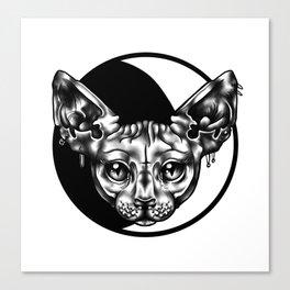 moon sphynx Canvas Print