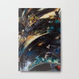 Black Water Brushstrokes Metal Print