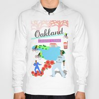 oakland Hoodies featuring Oakland by June Chang Studio
