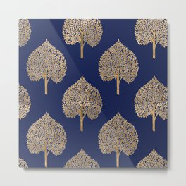 Gold Leaf Tree Metal Print