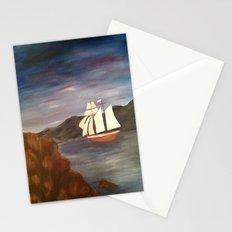Sailing at Dusk Stationery Cards