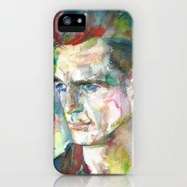 JACK KEROUAC - watercolor portrait.5 iPhone Case