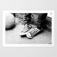converse Art Prints featuring converse by Annretro