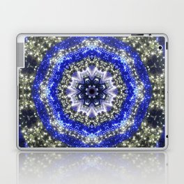 Happy Blues - blue and white kaleidoscope from lighted trees 1430 Laptop & iPad Skin