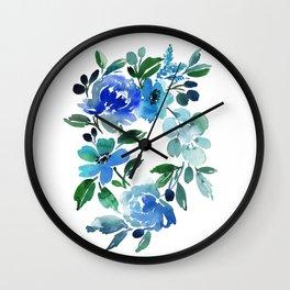 65. Flower Painting, Watercolor Flowers, Flower Art, Watercolor Flower Painting, Floral, Home Office Wall Clock