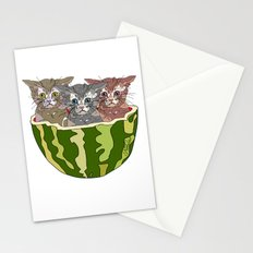 Watermelon Cats Stationery Cards