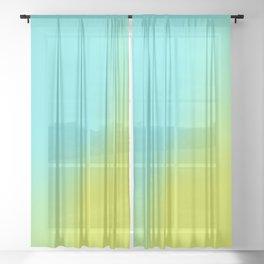 Summer Gradient Sheer Curtain