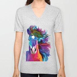pop art horse Unisex V-Neck