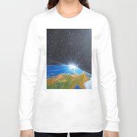 neon genesis evangelion Long Sleeve T-shirts featuring Genesis by ArT RefugiuM