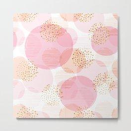 Pink Circles Metal Print