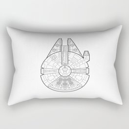 Millenium Falcon. Rectangular Pillow