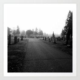 Dark Cemetery Art Print
