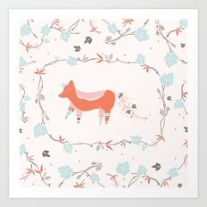 fox & grapes Art Print