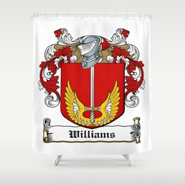 Family Crest - Williams - Coat of Arms Shower Curtain
