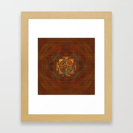 Colorful Sri Yantra  / Sri Chakra Framed Art Print