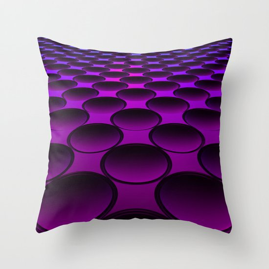 Purple Dimples Throw Pillow