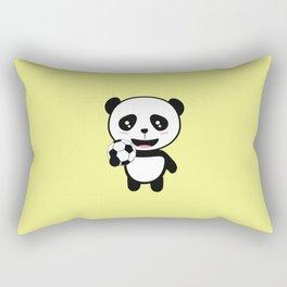 Soccer Panda with ball T-Shirt for all Ages Dkbjf Rectangular Pillow