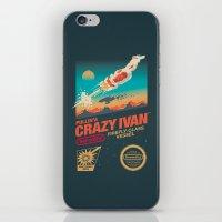 danny ivan iPhone & iPod Skins featuring Crazy Ivan by Victor Vercesi