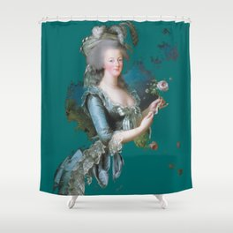 marie Antoinette teal Shower Curtain